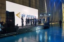 Presentation of Airbus A320 NEO aircraft of Air Astana company